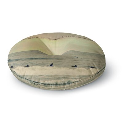 Robin Dickinson Pieces of Heaven Beach Round Floor Pillow Size: 26 x 26