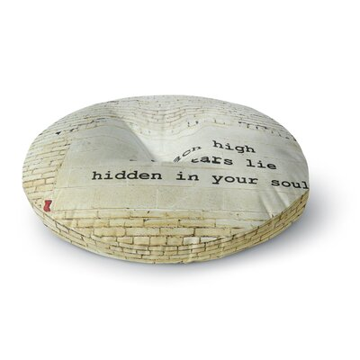 Robin Dickinson Reach High Brick Wall Round Floor Pillow Size: 23 x 23