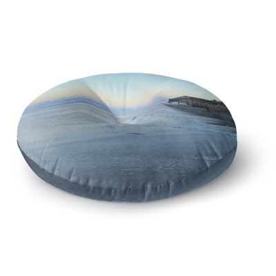 Robin Dickinson Sand Surf Sunshine Beach Round Floor Pillow Size: 23 x 23