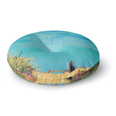 Robin Dickinson Simplify Beach Sky Round Floor Pillow Size: 23 x 23