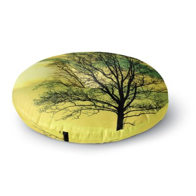Robin Dickinson Tree Sky Round Floor Pillow Size: 26 x 26