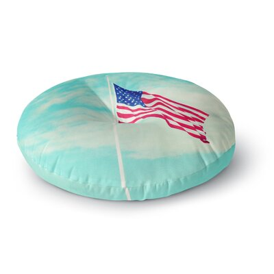 Robin Dickinson USA Colors Flag Round Floor Pillow Size: 26 x 26