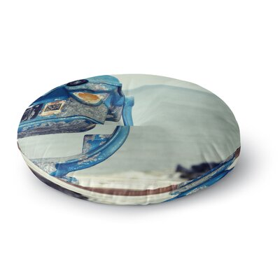 Robin Dickinson Way Out There Ocean Round Floor Pillow Size: 26 x 26