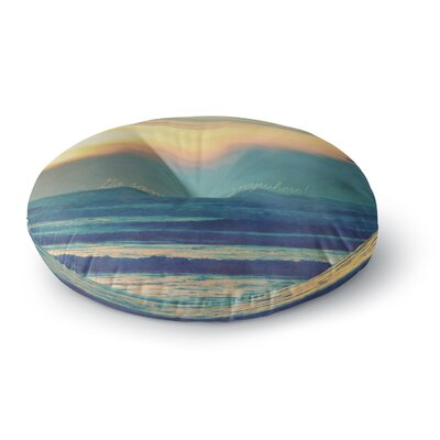 Robin Dickinson Go Somewhere Round Floor Pillow Size: 26 x 26