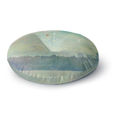 Robin Dickinson Follow Your Own Arrow City Landscape Round Floor Pillow Size: 26 x 26