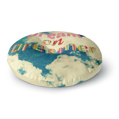 Robin Dickinson Dream On Clouds Round Floor Pillow Size: 26 x 26
