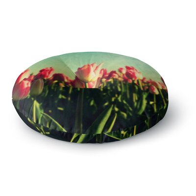 Robin Dickinson How Does Your Garden Grow Flowers Round Floor Pillow Size: 26 x 26