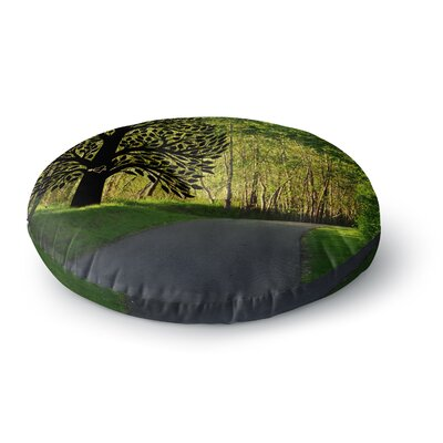 Robin Dickinson Love Nature Forest Round Floor Pillow Size: 23 x 23