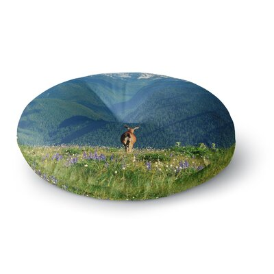 Robin Dickinson Natures Calling Round Floor Pillow Size: 26 x 26