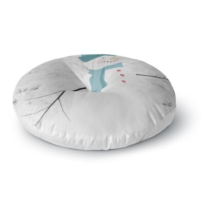 Robin Dickinson Frosty Round Floor Pillow Size: 23 x 23