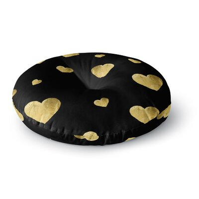 Robin Dickinson Floating Hearts Round Floor Pillow Size: 26 x 26