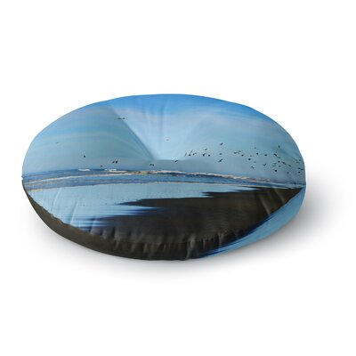 Robin Dickinson Beach Hair Coastal Round Floor Pillow Size: 26 x 26