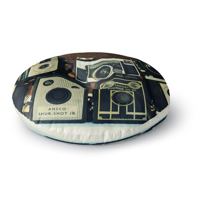 Robin Dickinson Through the Years Vintage Camera Round Floor Pillow Size: 26 x 26