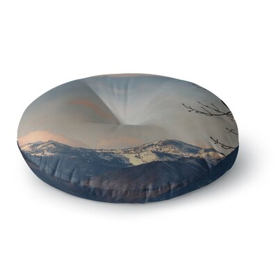 Robin Dickinson Majesty Nature Landscape Round Floor Pillow Size: 23 x 23