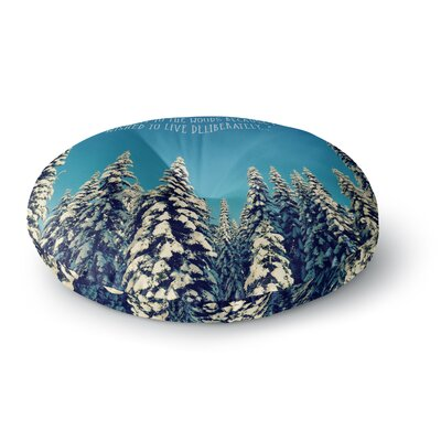 Robin Dickinson I Went to the Woods Round Floor Pillow Size: 26 x 26