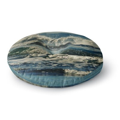 Robin Dickinson Forever Young Coastal Round Floor Pillow Size: 23 x 23