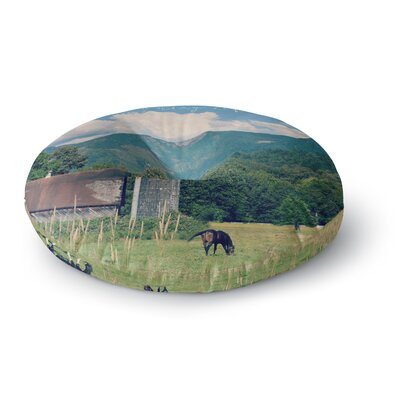 Robin Dickinson Country Life Round Floor Pillow Size: 23 x 23