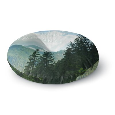 Robin Dickinson Adventure Beckons Nature Landscape Round Floor Pillow Size: 26 x 26