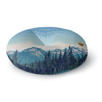 Robin Dickinson Its a Helluva Life Mountain Round Floor Pillow Size: 26 x 26