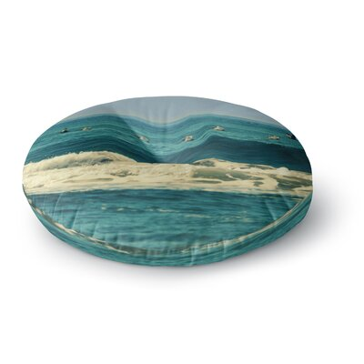 Robin Dickinson Break Free & Soar Ocean Wave Round Floor Pillow Size: 26 x 26