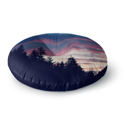 Robin Dickinson Go on Adventures Skyline Round Floor Pillow Size: 26 x 26