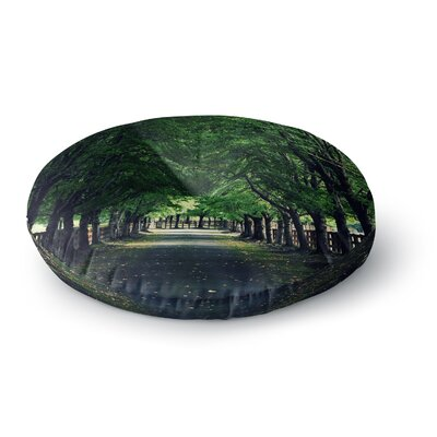 Robin Dickinson Welcome Home Trees Round Floor Pillow Size: 23 x 23