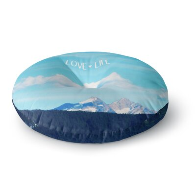 Robin Dickinson Love Life Sky Round Floor Pillow Size: 26 x 26