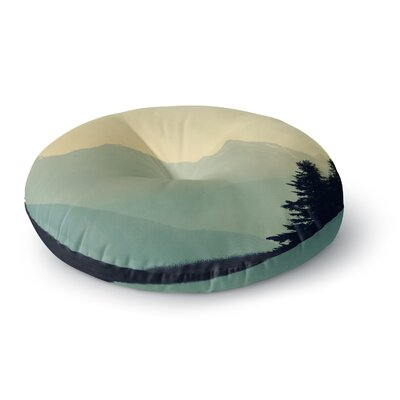 Robin Dickinson A Wonderful World Landscape Round Floor Pillow Size: 23 x 23