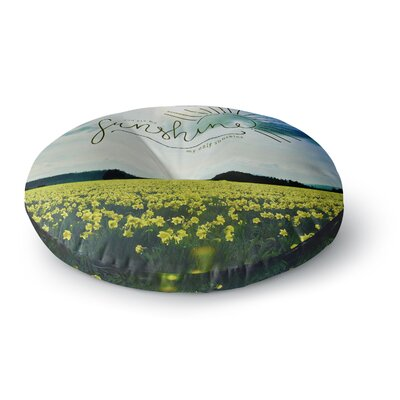 Robin Dickinson You Are My Sunshine,Rainbow Round Floor Pillow Size: 23 x 23