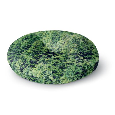 Robin Dickinson Summertime Woodlands Round Floor Pillow Size: 26 x 26