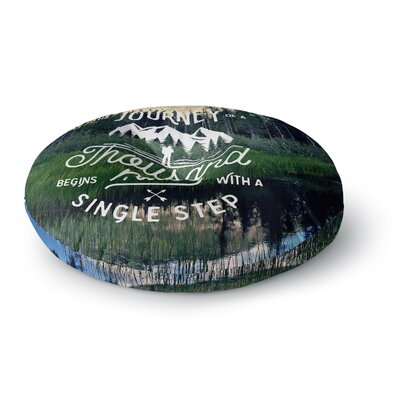 Robin Dickinson The Journey Photography Round Floor Pillow Size: 23 x 23
