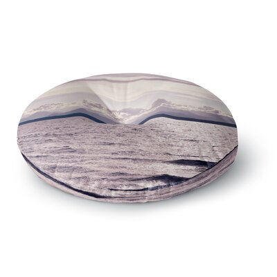 Robin Dickinson On the Other Side, Mountains Photography Digital Round Floor Pillow Size: 26 x 26