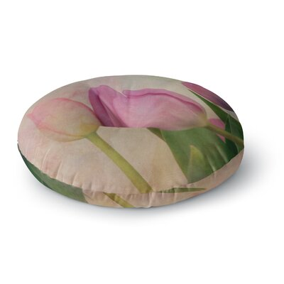 Robin Dickinson Springtime Tulips Photography Round Floor Pillow Size: 23 x 23