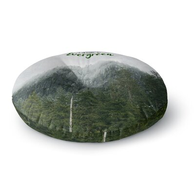Robin Dickinson I Dream in Evergreen Photography Round Floor Pillow Size: 23 x 23