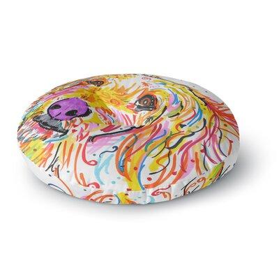 Rebecca Fischer 'Koda' Labradoodle Round Floor Pillow Size: 26