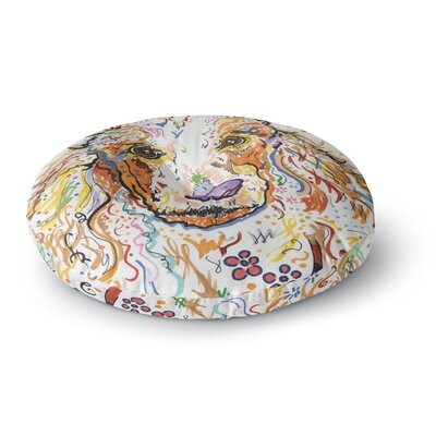 Rebecca Fischer Lily Poodle Round Floor Pillow Size: 26 x 26