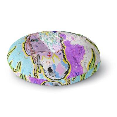 Rebecca Fischer Nemo Horse Round Floor Pillow Size: 23 x 23