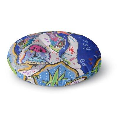 Rebecca Fischer Addy Mae Pug Terrier Round Floor Pillow Size: 26 x 26