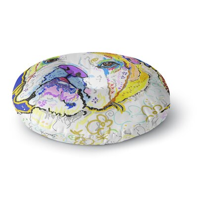 Rebecca Fischer Mavis Bull Dog Round Floor Pillow Size: 26 x 26