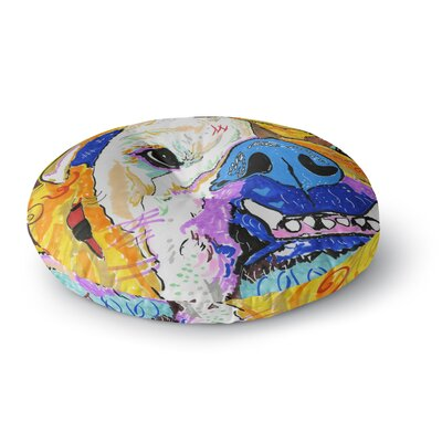 Rebecca Fisher Tucker Bulldog Round Floor Pillow Size: 26 x 26