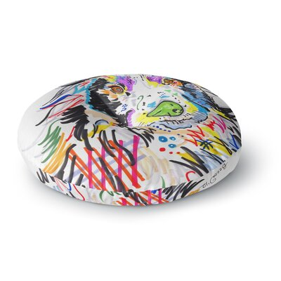 Rebecca Fisher Buzz Dog Round Floor Pillow Size: 23 x 23