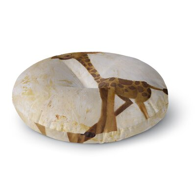 Rachel Kokko Georgey the Giraffe Round Floor Pillow Size: 23 x 23