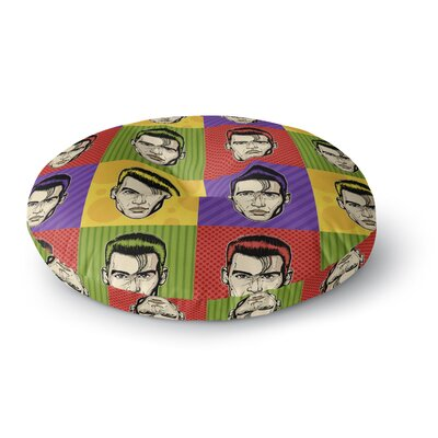 Roberlan Johnny Depop Pop Art Round Floor Pillow Size: 26 x 26