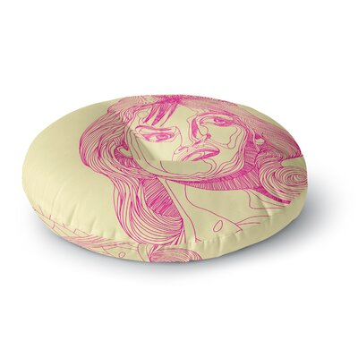 Roberlan Bardot Girl Round Floor Pillow Size: 23 x 23