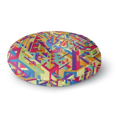 Roberlan Buracos Abstract Round Floor Pillow Size: 26 x 26