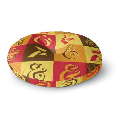 Roberlan Ampersands Typography Round Floor Pillow Size: 26 x 26