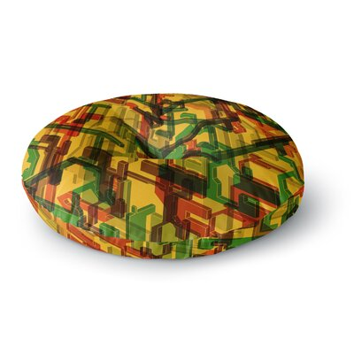 Roberlan Three Dee Round Floor Pillow Size: 26 x 26
