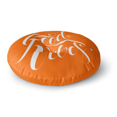 Roberlan Good Vibes Round Floor Pillow Size: 23 x 23