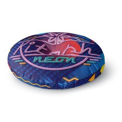 Roberlan Kitsch Neon Round Floor Pillow Size: 26 x 26