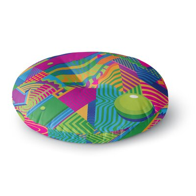 Roberlan The Fountain Abstract Pop Art Round Floor Pillow Size: 26 x 26
